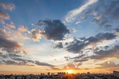 Puesta del sol y salida del sol Imagen de archivo