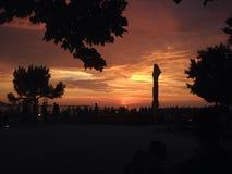 Puesta del sol Zadar Fotos de archivo libres de regalías