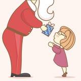 Puesta en práctica de los deseos de los niños por el Año Nuevo stock de ilustración