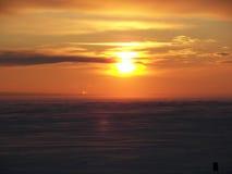Puestas del sol Fotografía de archivo