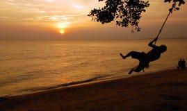Puestas del sol Fotografía de archivo libre de regalías