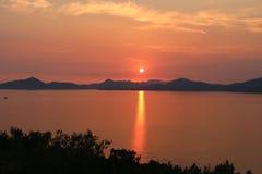 Puestas del sol adriáticas imagen de archivo libre de regalías