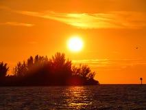 Puestas del sol de la Florida imagenes de archivo