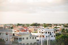Puestas del sol en el La Romana, República Dominicana imagen de archivo libre de regalías