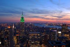 Puestas del sol en Manhattan Foto de archivo libre de regalías