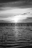 Puestas del sol en Songkhla Fotografía de archivo