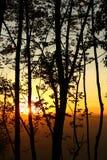 Puestas del sol hermosas Imagen de archivo libre de regalías