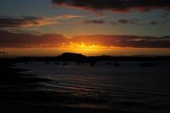 Puestas del sol, playa de Bucklands Imagen de archivo