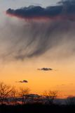 Puestas del sol sobre el PA del condado de Chester Imagen de archivo libre de regalías