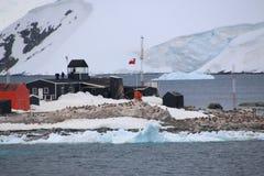 Puesto avanzado chileno en la Antártida Imagen de archivo libre de regalías