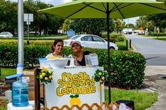 Puesto de limonadas en la Florida del sur Foto de archivo libre de regalías