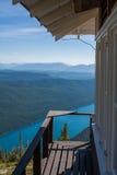 Puesto de observación de la cima de la montaña Fotos de archivo libres de regalías
