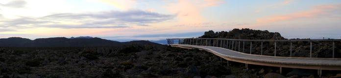 Puesto de observación de la montaña Foto de archivo