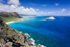 Puesto de observación del punto de Makapuu, Oahu imagen de archivo libre de regalías