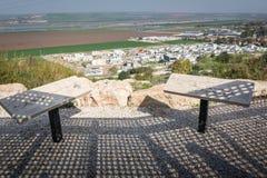 Puesto de observación del valle de Harod al lado de los kibutz Hephzibah Foto de archivo libre de regalías