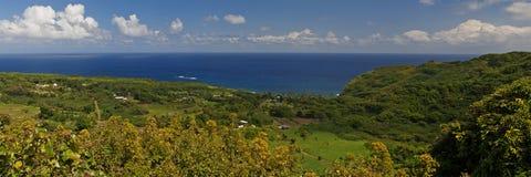 Puesto de observación del valle de Wailua, haciendo frente al océano Foto de archivo libre de regalías