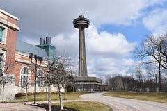 Puesto de observación en Niagara Falls en Ontario, Canadá imagenes de archivo