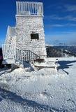 Puesto de observación en Pretulalpe en las montañas de Fischbacher Alpen Imagenes de archivo