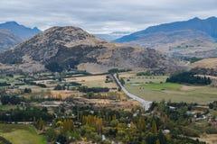 Puesto de observación escénico en el empalme de la flecha, Nueva Zelanda Imágenes de archivo libres de regalías