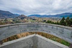 Puesto de observación escénico en el empalme de la flecha, Nueva Zelanda Imagenes de archivo