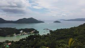 Puesto de observaci?n de Praslin Seychelles metrajes