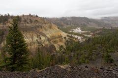Puesto de observación sobre el río Yellowstone Fotos de archivo