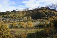 Pueyo DE Jaca, Bergen in Tena-vallei, de Pyreneeën Royalty-vrije Stock Foto's