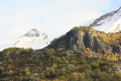 Pueyo de Jaca, Mountains in Tena valley, Pyrenees Stock Photography
