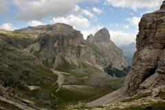 Dolomite`s landscape -Puez odle natural park Royalty Free Stock Image