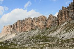 Dolomite`s landscape -Puez odle natural park Royalty Free Stock Photos