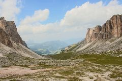 Dolomite`s landscape -Puez odle natural park Stock Photography