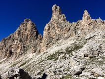 Puez-Odle natural park. Rock formation in Puez-Odle natural park, on Alta Via 2, Dolomites, South Tyrol Royalty Free Stock Photo