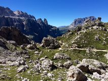 Puez-Odle natural park. View in Puez-Odle natural park, on Alta Via 2, Dolomites, South Tyrol Stock Photography