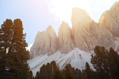 Puez odle nature park. Val Gardena to AltaBadia. Italy Stock Photography