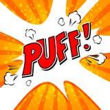 Puff! Royaltyfria Bilder