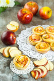 Puff apple shaped roses Stock Photos