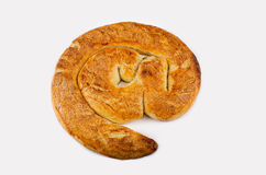 Puff is baked as email symbol Royalty Free Stock Photo