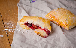 Puff with berry filling Royalty Free Stock Photography