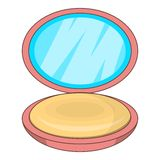 Puff-box icon, cartoon style Stock Image