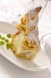 Puff cake. Traditional puff cake called Karpatka - Mountain Cake Stock Photos