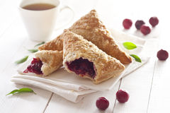 Free Puff Cherry Turnovers Stock Images - 41016054
