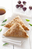 Puff Cherry Turnovers Stock Photography