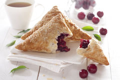 Puff Cherry Turnovers Royalty Free Stock Photo