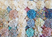Puff circle patchwork quilt design Stock Image
