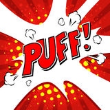 Puff! Comic Speech Bubble, Cartoon Stock Photography
