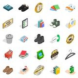 Puff icons set, isometric style Stock Photos