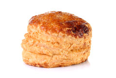 Puff mince pie. On a white background Stock Photos
