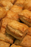 Puff pastries. Chicken pie made with puff pastry Stock Photos