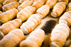 Puff pastries filled with whipped cream Royalty Free Stock Image