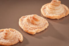 Puff pastries on a plate Royalty Free Stock Images